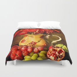 Flower and fruit Duvet Cover