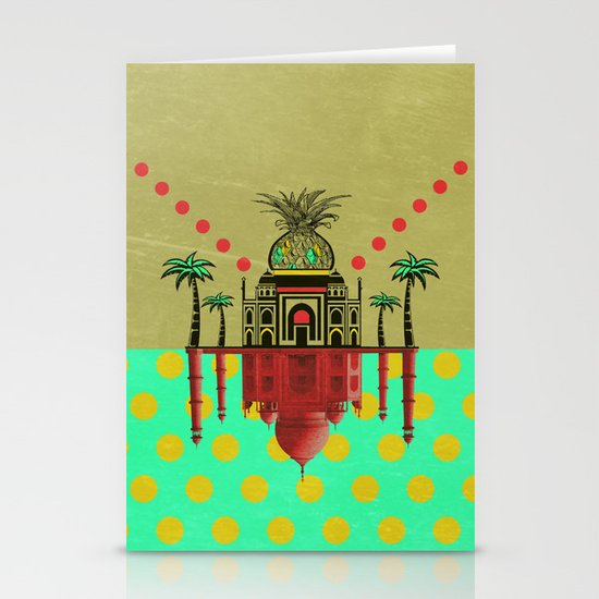 pineapple architecture 2 Stationery Cards
