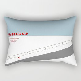 Fargo minimalist poster Rectangular Pillow