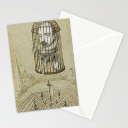 Michel Du Montaigne (1533 - 1592) An Inspirational Philosopher; Prison in the Sky Stationery Cards