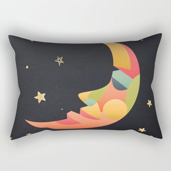 Imaginative Moon Rectangular Pillow