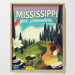 Mississippi For adventure Serving Tray