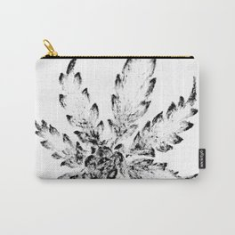 Black & White (Cannabis Resin Leaf) Carry-All Pouch