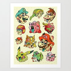 Smashed Bros. Art Print