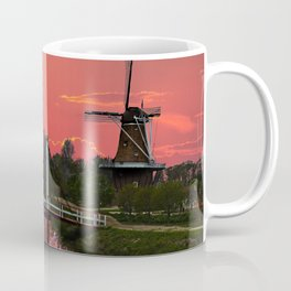 The deZwaan Dutch Windmill at Sunset Coffee Mug