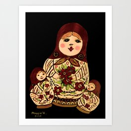 Russian dolls 2 / warmer colors  Art Print