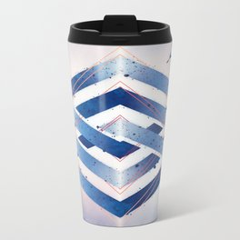 Floating Geometry :: Winter Hexagon Metal Travel Mug