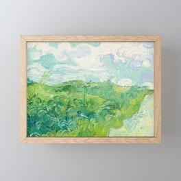 Green Wheat Fields - Auvers, by Vincent van Gogh Framed Mini Art Print