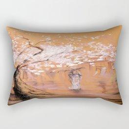 Walk under the rain # 2 Rectangular Pillow