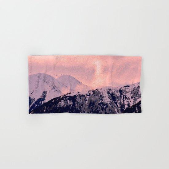 Kenai Mts Bathed in Serenity Rose - II Hand & Bath Towel