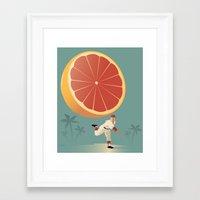 league Framed Art Prints featuring Grapefruit League by John W. Tomac