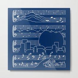 The Moonlight Sonata Blue Metal Print