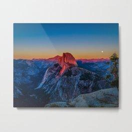 Sunset at Glacier Point Metal Print