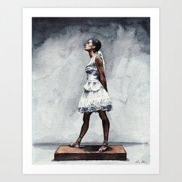 Misty Copeland Ballerina as the Little Dancer Art Print