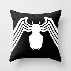 Symbiote Spider man Throw Pillow