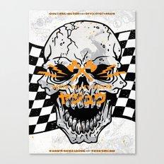 Death Valley Racers (Black Orange) Canvas Print