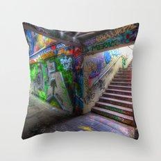 Leake Street London Graffiti Throw Pillow