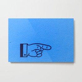 Direction Blue Metal Print