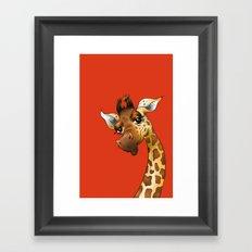 Red Giraffe! Framed Art Print