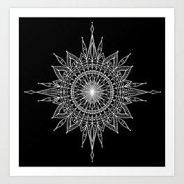 Mandala Star Tattoo Art Print