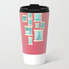 Bricks & Windows Metal Travel Mug