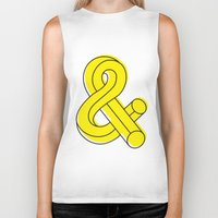 ampersand Biker Tanks featuring Ampersand by MADEYOUL__K