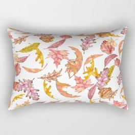 Falling Autumn Leaves Collage Rectangular Pillow