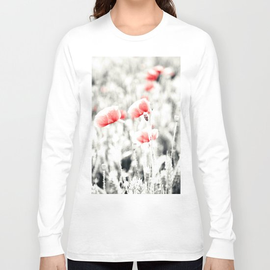 Poppy Poppies Mohn Mohnblume Flower Long Sleeve T-shirt