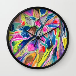 Fluorite Thin Section Watercolor Wall Clock