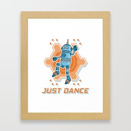 Just dance like a robot Framed Art Print