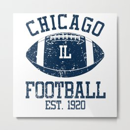 Chicago Football Fan Gift Present Idea Metal Print