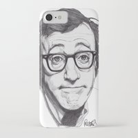 woody allen iPhone & iPod Cases featuring Woody Allen by Paul Nelson-Esch Art