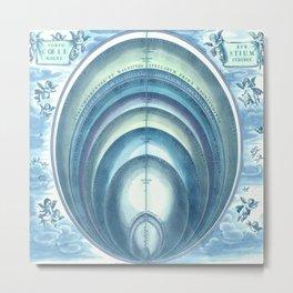 Harmonia Macrocosmica Plate 10 Blue Metal Print