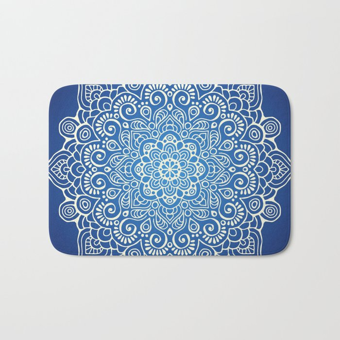 Mandala dark blue Bath Mat