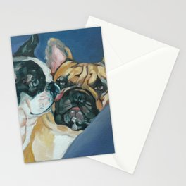 Fanci-Pants and Louie French Bulldogs Stationery Cards