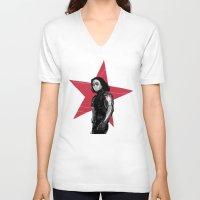derek hale V-neck T-shirts featuring Winter S. Derek  by Finduilas
