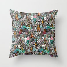 Gemstone Cats Throw Pillow