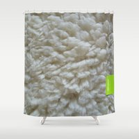 the 100 Shower Curtains featuring 100% SHEEP by 7535C