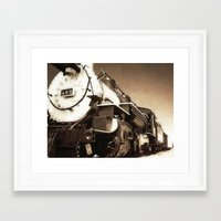 train Framed Art Prints featuring Train by SteeleCat