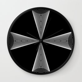 Black and White 001 Wall Clock