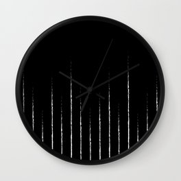 Lines in black Wall Clock