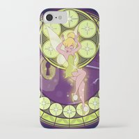 tinker bell iPhone & iPod Cases featuring Tinker Bell by NicoleGrahamART