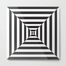 Hypnotic Black and White Portal Metal Print