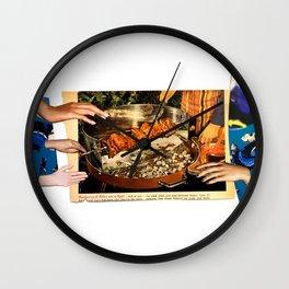 Kebab Grab Wall Clock