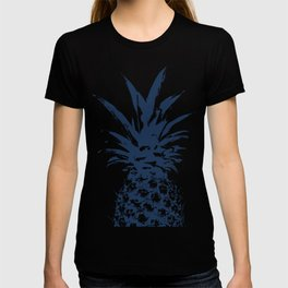Half dark Blue Pineapple duo tone vector T-shirt