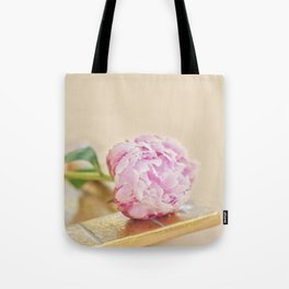 PEONY WITH GOLD Tote Bag