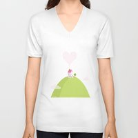 home sweet home V-neck T-shirts featuring home sweet home by patricia florez