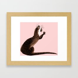 Asian small-clawed otter Framed Art Print