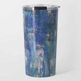 Abstract blue Travel Mug