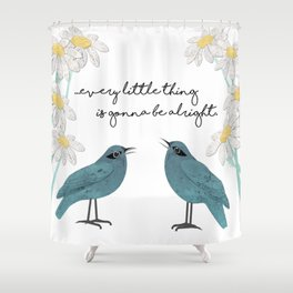 Three Little Birds, Part 2 Shower Curtain